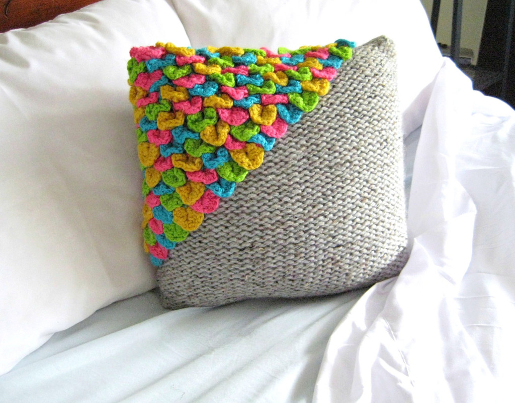 Neon Multicolored Decorative Throw Pillow Handmade by The Monsters Lounge