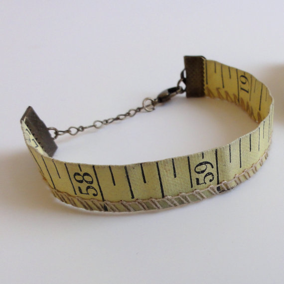 Vintage Tape Measure Bracelet By Design Lab 443