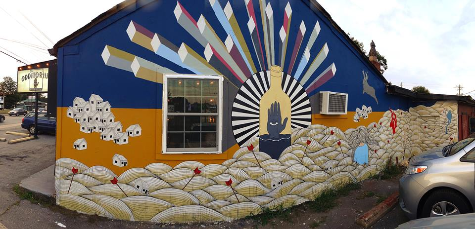 Mural at The Odditorium, Asheville NC by Hannah Dansie