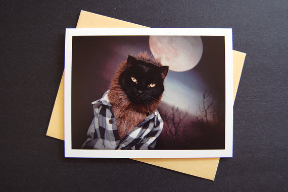AC is the Wolfcat Greeting Card
