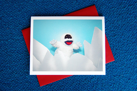 AC is the Abominable Snowman Greeting Card :: Kate Funk
