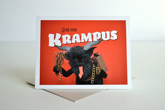 AC's Krampuskarten Greeting Card :: Kate Funk