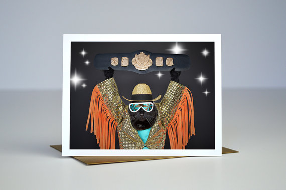AC is Macho Greeting Card :: Kate Funk