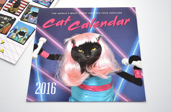 2016 World's Most Super-Amazing 100% Awesome Cat Calendar :: Kate Funk