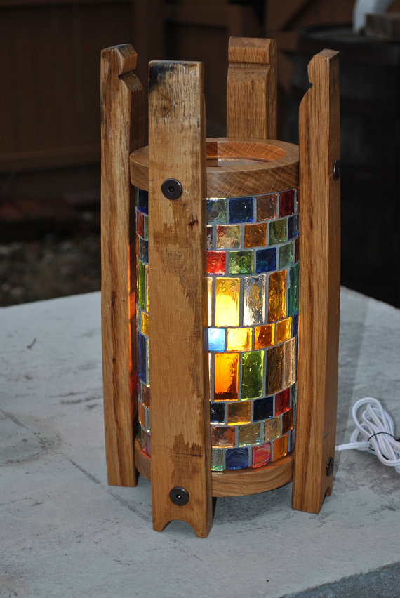 1933 Designs - Whiskey Barrel Mosaic Accent Lamp