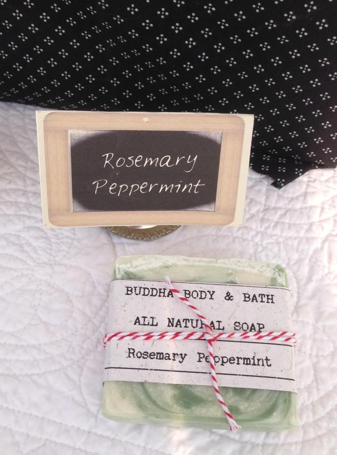Buddha Body & Bath - Rosemary Peppermint Natural Soap