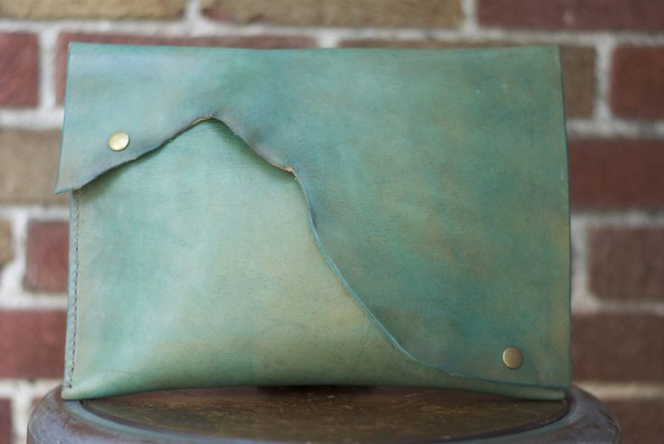 Made Supply Co. - THE GAGA - TURQUOISE LEATHER CLUTCH