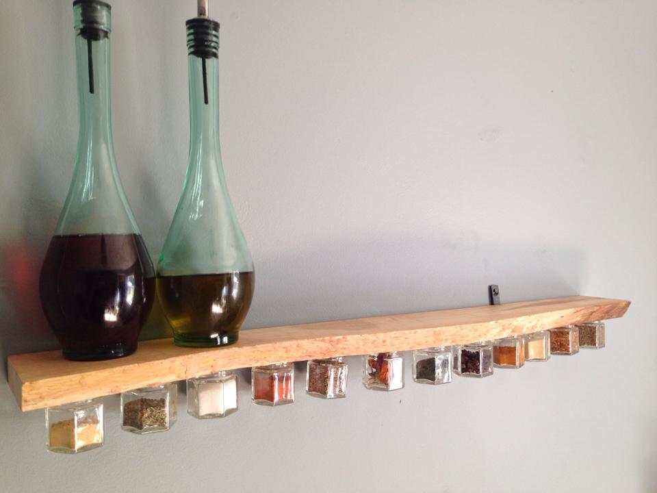 Unnatural Resources - Handmade Magnetic Spice Jar Shelf