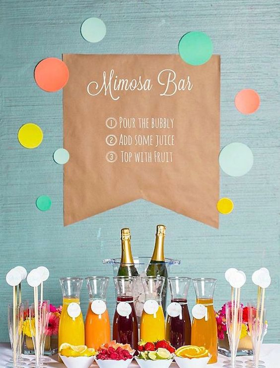 Mimosa Bar // Smarty Had a Party // 8 Memorable Food & Drink Bars Curated by DottieQ.com