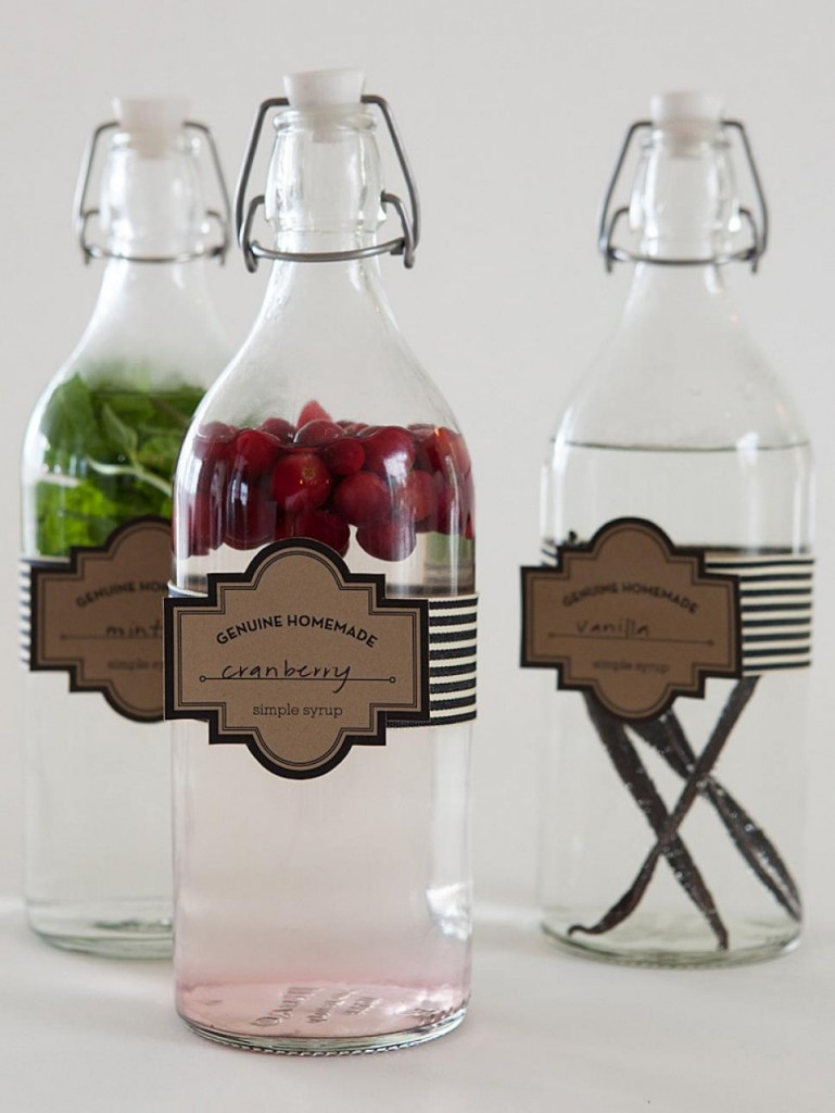 Infused Simple Syrup Favor // DIY Network