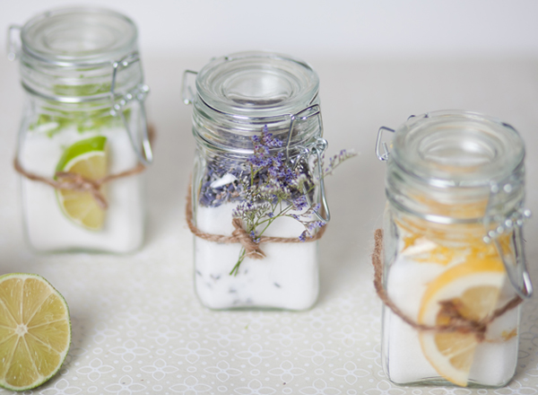 Lime, Lavender & Lemon Infused Sugar Favors // Sugar and Charms