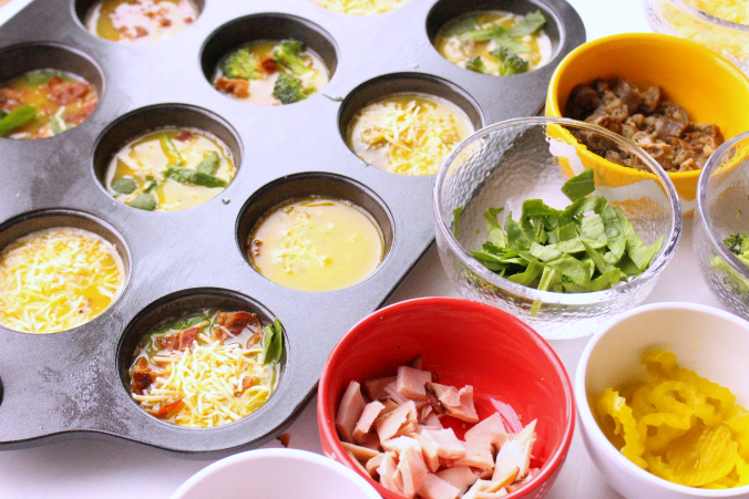 Mini Frittata Breakfast Bar // Family Fresh Meals