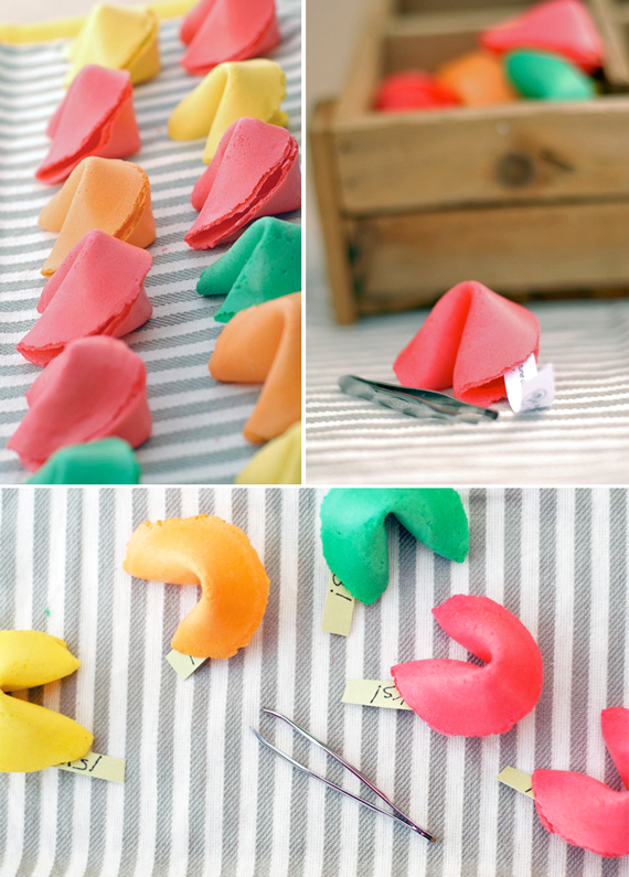 Colorful Fortune Cookie Wedding Favors // A Subtle Revelry