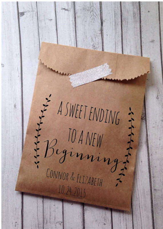 A Sweet Ending Wedding Favor Bag // Details on Demand
