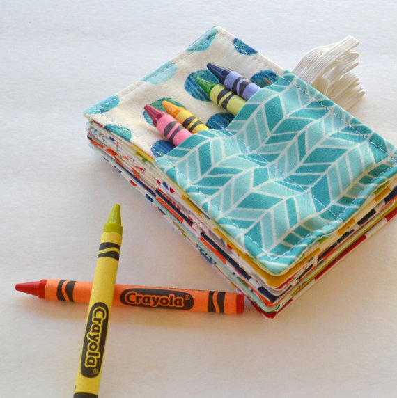 Mini Crayon Roll Favor // Corinne Citrolo