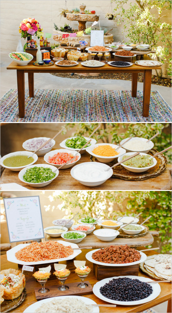 Taco Bar // Wedding Chicks