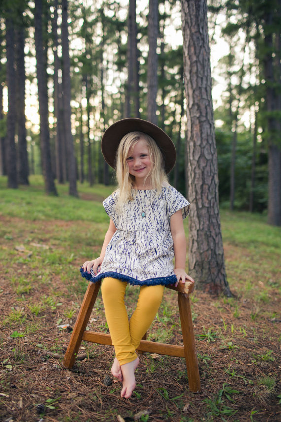 Moonchild Collection Mustard Leggings // Bohemian Babies